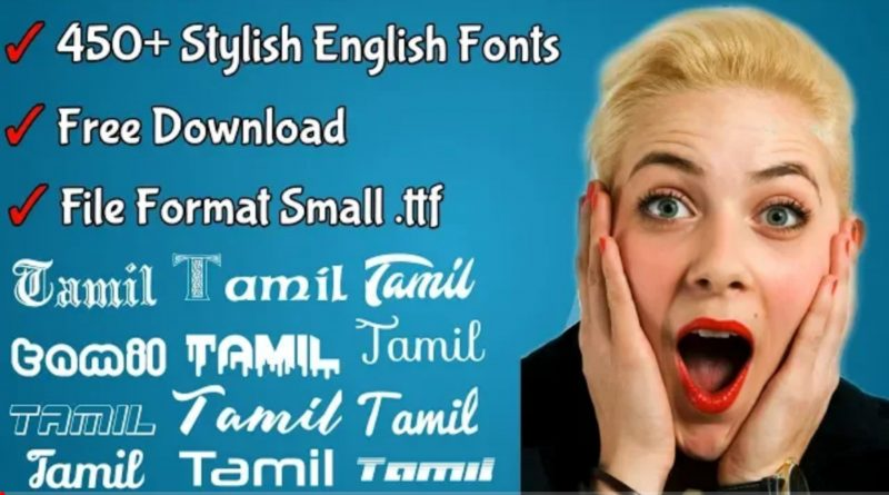 450+ English fonts free download